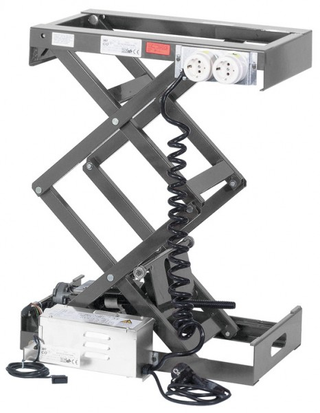 Verschwindibus, elektr. Hebesystem Tragkraft 80 kg, mit Doppelscherenmechanik (Größe 1), 421.65.315